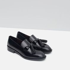 Image 7 of LEATHER LOAFERS WITH TASSELS from Zara