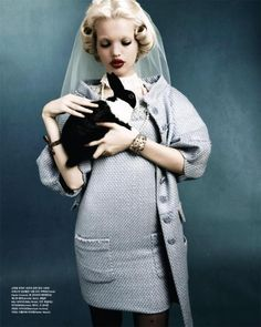 Mystic Blue    Model: Daphne Groeneveld  Photographer: Rafael Stahelin  Stylist: Ye Young Kim  Magazine: Vogue Korea April 2012