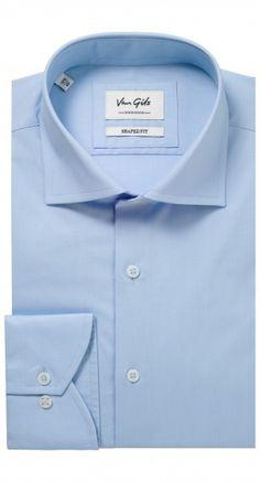 Het lichtblauwe Ellington shaped fit shirt is slank gesneden waardoor het perfect te combineren is voor zowel zakelijk als casual. Dit shirt heeft een semi wide spread collar, een enkele manchet en een semi rounded signature cuff.
