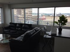 The penthouse living room near completion