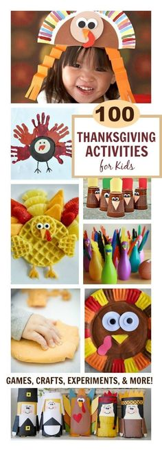 TONS OF THANKSGIVING ACTIVITIES FOR KIDS!  Games, crafts, and more!