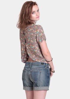 Wildflower Garden Crop Top at Threadsence