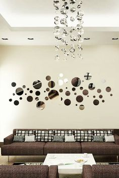 Wall Decals Reflective Bubble Variety- WALLTAT.com Art Without Boundaries