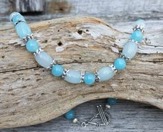 Blue Gemstone Necklace, Beaded Jewelry