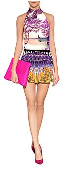 MARY KATRANTZOU Kite Playsuit Terraflora in Multi