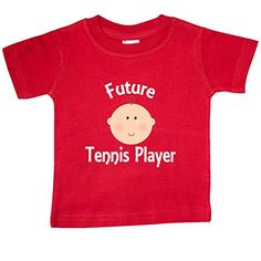 Inktastic Baby Boys' Future Tennis Player Gift Baby T-Shirt 12 Months Red >>> Want additional info? Click on the image.