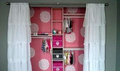 idea for my exposed closet envisioned in my head! I had one like this as a teenager :)