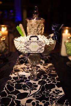 Elegant Wedding Candy Buffet Table Station by www.cwdistinctivedesigns.com