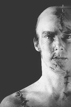 (gif) Frankenstein by Nick Dear based on the novel by Mary Shelly directed by Danny Boyle. With Benedict Cumberbatch as The Creature, Johnny Lee Miller as Victor Frankenstein . Opens at The Olivier Theatre at The Royal National Theatre on on 22/2/11