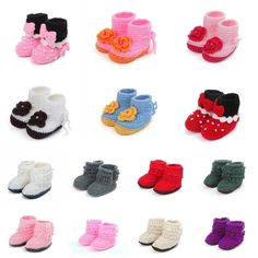 Handmade Baby Wool Unisex Crochet Knit Sandals Walker Shoes Boot Slippers 0-12M #Handmade #WalkingShoes