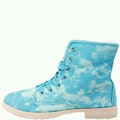 Boots bleu; KiABI