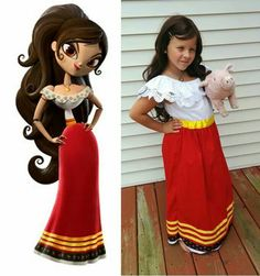 Maria Posada Book of Life Costume. Have to have the piggy.