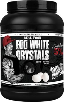 These are REAL, actual eggs where we gently evaporated the water leaving crystals of pure whites. As a dietary supplement, you can add water and turn these crystals into light and fluffy either in a pan on the stove or in a bowl in the microwave. These REAL Egg White Crystals are not heat denatured or damaged and have been kept in their original purest form. They can be added to your meals for additional protein. Get yours today at TGB Supplements! Stop in or go to www.tgbsupplements.com…