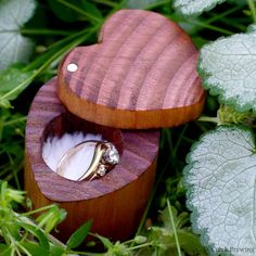 Engagement Ring Box - Heart Shaped Ring Box - Wedding Ring Box - Ring Box For…