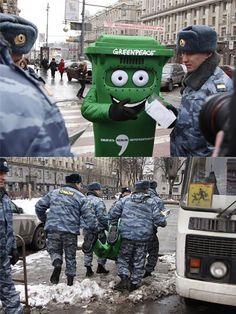 Greenpeace trashed in Russia