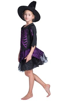 Newhui Girls Halloween glittering skull Witch black Dress Hat Kids Performance Vampire Suit Costume >>> Extra details could be found at the image link. (This is an affiliate link). Halloween Party, Halloween Costumes, Children Costumes, Dress Hats, Lace Skirt, Witch, Image Link, Skull, Suits