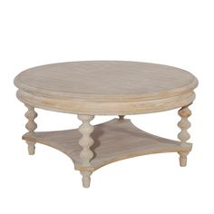 Powell Cypress Transitional Coffee Table (Natural), Beige
