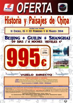 Historia y Paisajes de CHINA 9 dias desde 995€ - http://zocotours.com/historia-y-paisajes-de-china-9-dias-desde-995e/