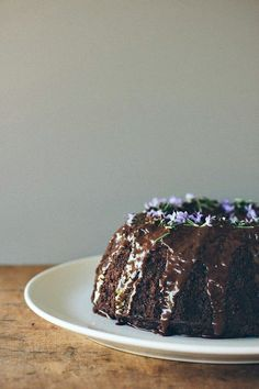 my darling lemon thyme: Dark chocolate, pear + rosemary cake {gluten + dairy-free} + exciting news!