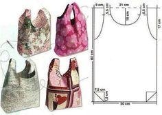 2 ideas for making your own tote bag, incredibly easy ! --> http://wonderfuldiy.com/wonderful-diy-easy-tote-bag/