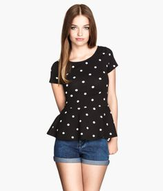 Peplum Top | H&M US - I love me some polka dots :)