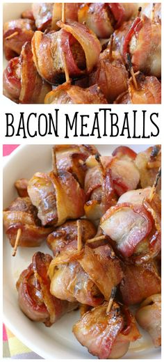 Bacon Wrapped Meatballs - perfect gameday appetizer! You'll love how easy these Bacon Meatballs are to make. Don't forget the last ingredient- it makes these the perfect sweet-salty treat! Butter With A Side of Bread