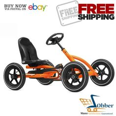 berg toys buddy orange pedal go kart for 3 to 8 yrs age group 24206000
