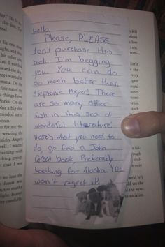 I sort of want to go to bookstores and start doing this... it's a public service, really.