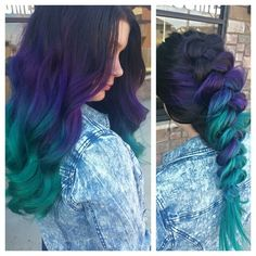 Georgeous purple turquoise ombré