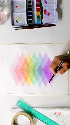 Transparent Watercolor Design by Josie Lewis Check out Josie's book to get a step-by-step of this process Watercolor Design, Watercolor Pattern, Easy Watercolor, Simple Watercolor Paintings, Watercolor Masking Fluid, Pattern Painting, Watercolor Books, Step By Step Watercolor, Abstract Watercolor Art