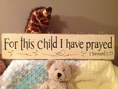 For This Child, I Have Prayed