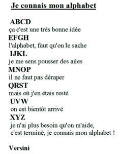 Illustration Je connais mon alphabet de Versini