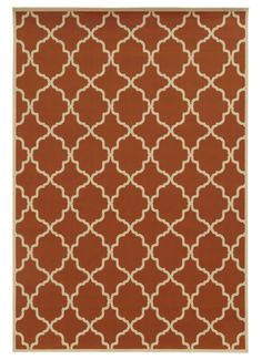 Edinburgh Orange/Ivory Indoor/Outdoor Area Rug