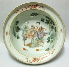 ANTIQUE CHINA CHINESE LARGE 19TH BOWL