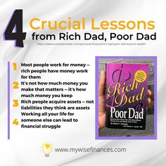 Rich Dad, Poor Dad by Robert Kiyosaki is one of must-reads in the personal finance section. It teaches about cash flow, real estate, investing and how to start a business. Here are crucial lessons to learn that can change your financial life! 💯 Rich Dad, Robert Kiyosaki, Rich People, Insurance Quotes, Life Insurance, Starting A Business, Personal Finance, Investing, Rich Money
