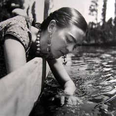 Frida Kahlo.  I love this photograph.