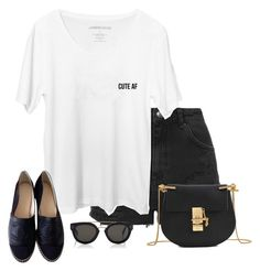 """""""Untitled #1258"""" by laurakaroliina ❤ liked on Polyvore featuring Topshop, Chanel, Chloé and CÉLINE"""
