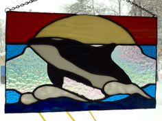 stained glass killer whale