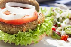 Burger: Is It Healthy? Veggie Burger: Is it Healthy? Not all veggie burgers are good for you!Veggie Burger: Is it Healthy? Not all veggie burgers are good for you! Vegan Dinner Recipes, Vegan Dinners, Lunches And Dinners, Vegetarian Recipes, Cooking Recipes, Healthy Recipes, Burger Recipes, Healthy Dinners, Delicious Recipes