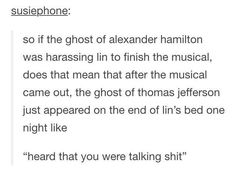 I thought it said in Lin's bed and I just