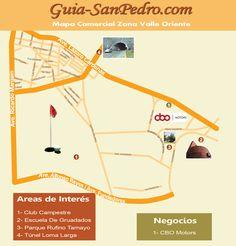 Mapa : Zona Valle Oriente Guia-SanPedro.com   otoño 2012