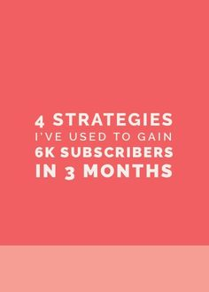 4 Strategies I've Used To Gain 5K Subscribers In 3 Months | Want to grow your email list? Click through for 3 strategies on how to build your list.