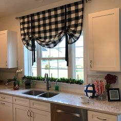 66 Premium Black Kitchen with Black Cabinets Ideas - HomeCNB Wooden Kitchen, New Kitchen, Kitchen Decor, Kitchen Paint, Cafe Curtains, Kitchen Curtains, Buffalo Plaid Curtains, Black Kitchen Cabinets, Kitchen Models