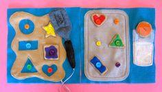 Cookie Shapes & Colors Quiet Book Page