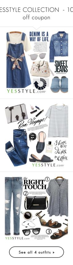 """""""YESSTYLE COLLECTION  - 10% off coupon"""" by helenevlacho ❤ liked on Polyvore featuring Summer, 10, yesstyle, True Religion, Hotping, Baimomo, Mizshoes, Dezso by Sara Beltrán, Urbanears and Helmut Lang"""