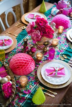 The colors! And I'm loving the poms half open on the table.