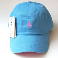 69756d088f7 Polo Baseball Womens Man Golf Exercise Sports Ball Running Cap Hat Sky Blue  Pink