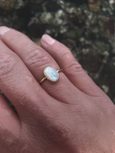 One & only opal ring. Gold and opal ring. 14k Gold Ring, Silver Rings, Opal Rings, Gemstone Rings, October Birth Stone, Solid Gold, Engagement Rings, Sterling Silver, Unique