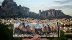 Foldable landscape in Greece - lilla schuch