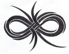 larry's infinity tattoo on his wrist up the fore arm